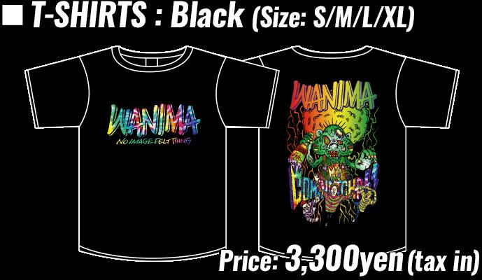 T-SHIRTS : Black (Size: S/M/L/XL) , Price: 3,300yen(tax in)
