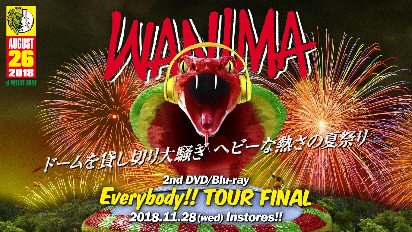 2nd DVD / Bru-ray「Everybody!! TOUR FINAL」 11月28日(水)発売!!